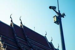 Tuffa kameror kan anteckna händelser på templet Royaltyfria Bilder
