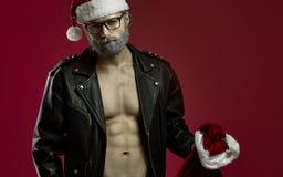 Tuffa Santa Claus Royaltyfri Bild