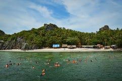 Tuffandosi in Tailandia Immagini Stock Libere da Diritti