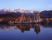 Tuffas at mono lake Stock Image