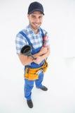 Tuffatore e chiave maschii della tenuta dell'idraulico fotografia stock