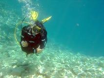 Tuffo negli shallows Fotografia Stock Libera da Diritti