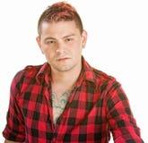 Tufft ungt Punk hånfullt Arkivfoton