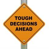 Tufft vägmärke för beslut framåt royaltyfri illustrationer