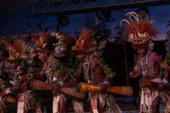 Tufi plemię przy Lo Spirito Del Pianeta BG 01-06-2018 Fotografia Royalty Free