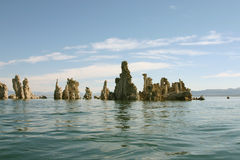tufs reflétés mono de lac Photos libres de droits