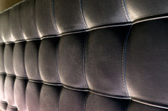 Tufted Textuur van het Leerhoofdeinde voor Achtergrond Stock Foto