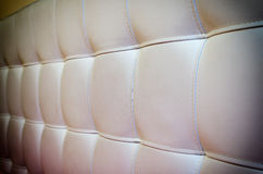 Tufted White Leather Headboard Texture for Background with Vigne Stock Photography