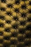 Tufted Yellow Leather Royalty Free Stock Photos