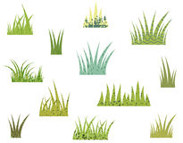 Tufts of green grass Stock Photo