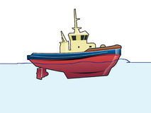Tug. A  illustration of a tug Royalty Free Stock Photography