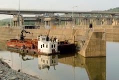 Tug and barge Stock Photos