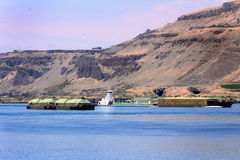 Tug And Barges royalty free stock photography