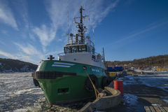 Tug boa sund on the quayside in halden Stock Image