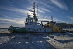 Tug boa sund on the quayside in halden Stock Photos