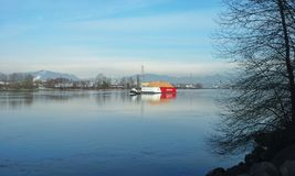 Tug Boat and Barge Stock Photos
