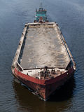 Tug boat with barge Royalty Free Stock Image