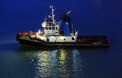 Tug boat in Civitavecchia Royalty Free Stock Photos