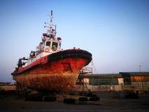 Tug boat at docked Stock Photography