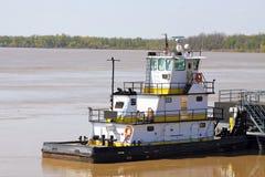 Tug Boat en el Mississippi fotografía de archivo