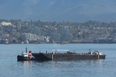 Tug Boat and Fuel Barge, Vancouver Royalty Free Stock Photos