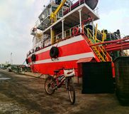 Tug boat at docked Stock Images