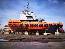 Tug boat at docked Royalty Free Stock Image