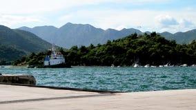 Tug boat in harbour. Split,Coatia stock footage