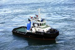Tug Boat. Idling in the Port of Civitavecchia September 2015 royalty free stock photos