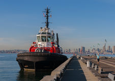 Tug Boat at Pier in Vancouver Stock Images