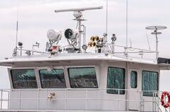 Tug-boat pilot house Royalty Free Stock Photo
