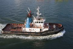 Tug boat at Port of Civitavecchia, Italy, the Port of Rome Royalty Free Stock Photos