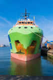 Tug boat in rotterdam harbor Stock Photo