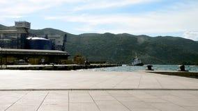 Tug boat at sea port. Split,Coatia stock video footage