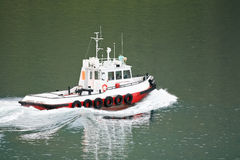 Tug boat at seaport Stock Image