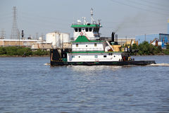 Tug Boat on Ship Channel Stock Photography