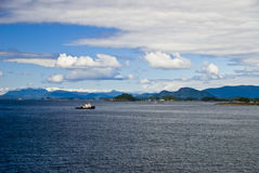 Tug Boat in Sitka Alaska. A fishing tug boat off the coast of Sitka Alaska Royalty Free Stock Photo