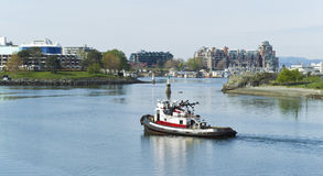 Tug Boat in Victoria Canada Harbor Royalty Free Stock Images