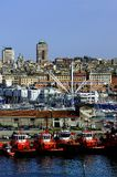 Tug Boats of Genoa Royalty Free Stock Images