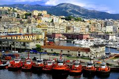 Tug Boats of Genoa Royalty Free Stock Photos