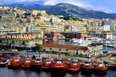 Tug Boats of Genoa Royalty Free Stock Photos