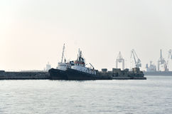 Tug boats in harbor Stock Photography