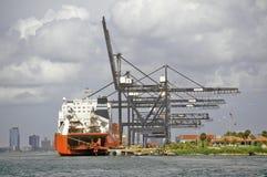 Tug boats in Miami Harbor, Miami, Florida Stock Photo