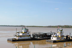 Tug Boats on the Mississippi Royalty Free Stock Photography