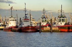 Tug Boats in the Port of Hamburg Royalty Free Stock Photography
