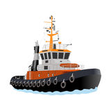 Tug boats. In the sea Royalty Free Stock Photography