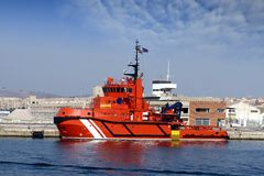 Tug docked Royalty Free Stock Images