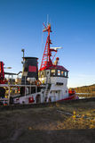Tug frier. Is moored to the quay at the port of halden, image is shot in december 2012 Royalty Free Stock Photography