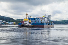 Tug herbert  towing eide barge Royalty Free Stock Photo