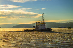 Tug & icebreaker Royalty Free Stock Photo
